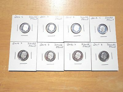 2010 2011 2012 S 2013 2014 S 2015 2016 2017 S Roosevelt Dime Silver Proof Set