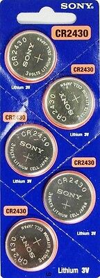 CR 2430 SONY LITHIUM BATTERIES (5 piece) 3V Watch New Authorized Seller Exp:2027