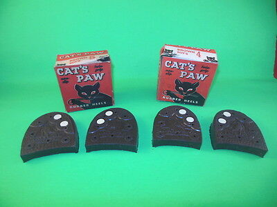1L Vintage CAT's PAW Rubber Shoe Heels Pairs 2 Boxes Halloween Graphics COOL!