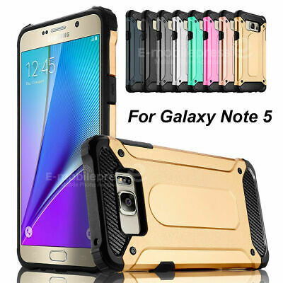 Samsung Galaxy Note 5 Hybrid Rugged TPU Rubber Shockproof Matte Slim Case Cover