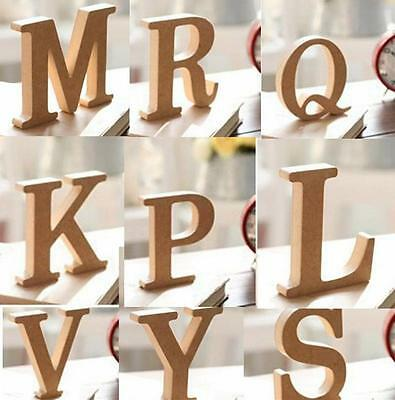 10x1.5cm (thick) Wood Wooden Letters Alphabet Wedding Birthday Home Decor