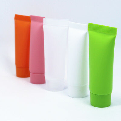 Colorful Cream Tubes Cosmetic Lotion Container Travel Sample Empty Makeup Bottle