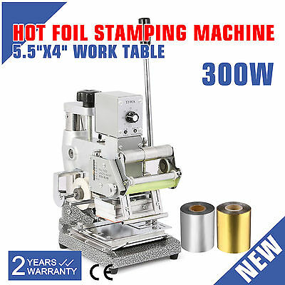 Hot Foil+2 Foil Paper Printing Stamping Machine Code Embossing Wedding Cards