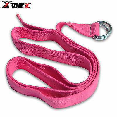 D-Ring Yoga Stretching Strap Training Belt Fitness ExerciseGym 180CM 100% Cotton