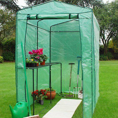 Extra Large Greenhouse Grow house 6ft x 4ft Walk In Plastic Plant Vegetable grow