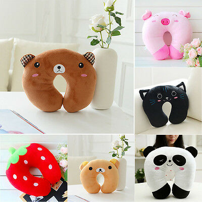 Multi-Color Cartoon Foam U Shaped Travel Pillow Neck Support Head Rest Cushion