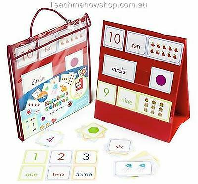 Numbers and Shapes Pocket Chart Educational Home School Maths Kids Learning Tool