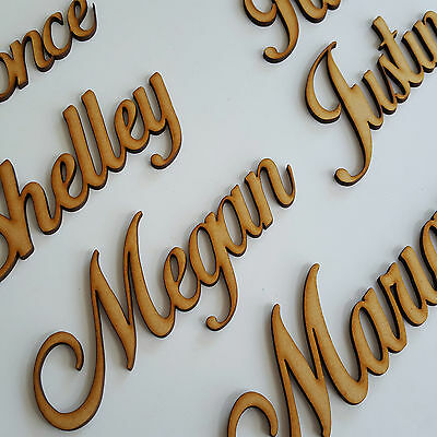 Wooden Bespoke Script Names Words Wedding Book Family Tree Decor MDF Fathers Day