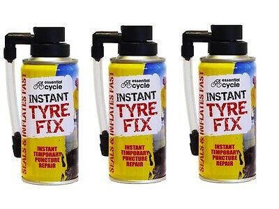 3 X 200ml Instant Quick Puncture Repair Bike Tyre Fix Sealant Bicycle Cycle New