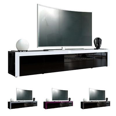 "Black High Gloss Modern TV Stand Unit Media Entertainment Center ""La Paz"""