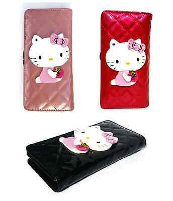 Hello Kitty Cute Childrens Purse With Hidden Mirror / Cards Coin Compartments