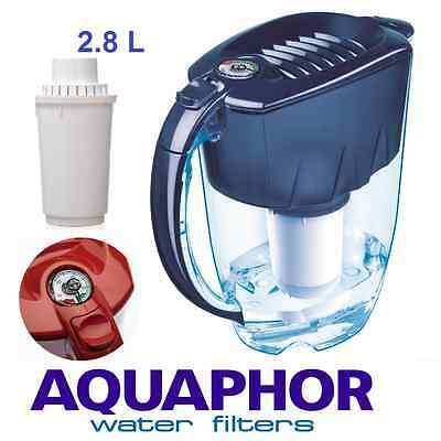 AQUAPHOR PRESTIGE Blue 2.8 L Filter Jug Pitcher Hard Water 300 Litres 2 Months