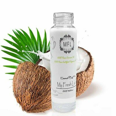 100% PURE PREMIUM ORGANIC 76 DEGREE COCONUT OIL COLD PRESSED 2 oz XW