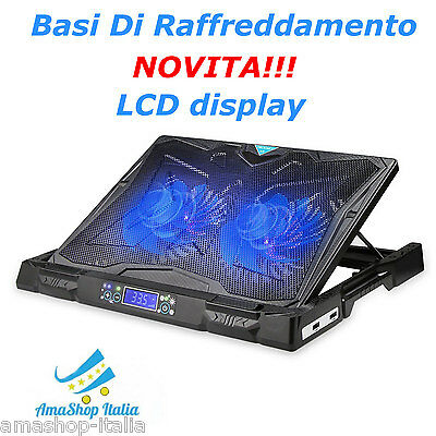 Cooler Basi Di Raffreddamento Per PC Portatili Laptop Notebook con LCD display