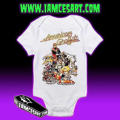 American Graffiti Baby One Piece Hot rods rockabilly movie 1950s  iamcesart
