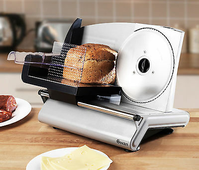Swan Electric Kitchen Food Slicer Bread Meat Counter Top SFS102