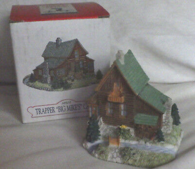 """Liberty Fall """"trapper Big Mike's Cabin"""" Christmas Western Snow Village Figure"""