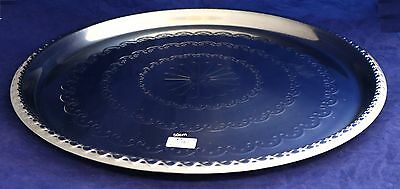 New 50cm Round Stainless Steel Tray 21579