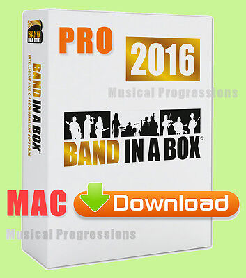 Band In A Box 2016 Pro Mac - Download - Audio Music Software - Full Retail New