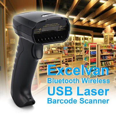 Bluetooth Wireless USB Laser Barcode Scanner Reader Handheld for Win/iOS/Android