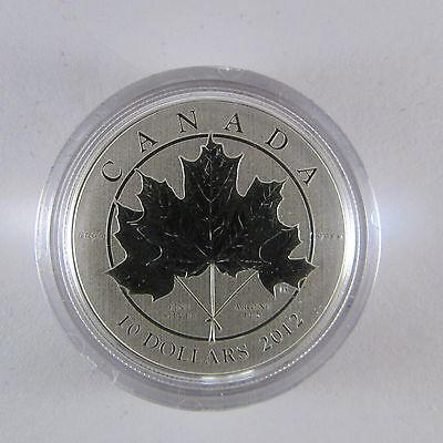 2012 $10 Silver Coin Maple Leaf Forever #028128, 029161 or 028119