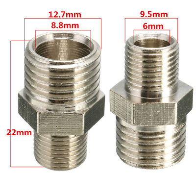 1pc 1/4'' BSP Male to 1/8'' BSP Male Airbrush Hose Adaptor Fitting Connector