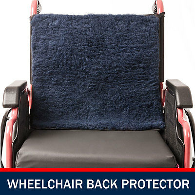 Wheelchair Back Protector Wheel Chair Pillow Cover Cushion Blue Shear Faux Lamb