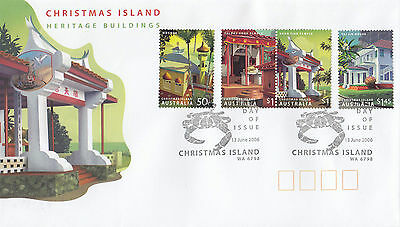 Christmas Island 2006 Heritage Buildings FDC