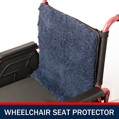 Wheel Chair Back Protector Pillow Cover Cushion Blue Faux Lamb Wheelchair *NEW*