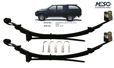A Pair Of O.e Heavy Duty 4+2 Six Leaf Spring For Mitsubishi L200 1986-2006