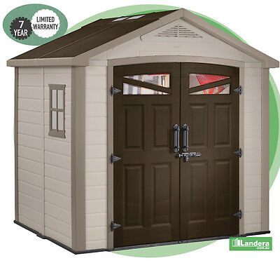 Keter Bellevue Garden Shed 2.55w x 205d x 2.55h High quality shed - 10 Yr Wrnty