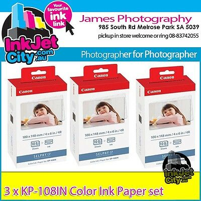 Canon Genuine KP-108IN *3 Ink & 108 Photo Paper Selphy CP600 CP710 CP720 CP730