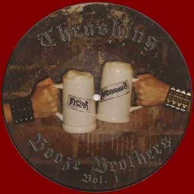 "WITCHBURNER / BYWAR -7"" Picture EP- Split ""Thrashing Booze Brothers Vol. 1"""