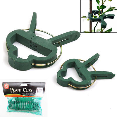 20Pcs Plant Clips Securing Flowers Bushes Branches Vine 1.25in and 1.75in