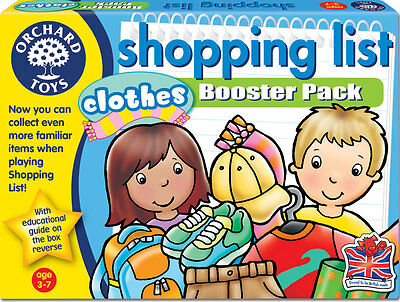 Orchard Toys Shopping List Clothes Booster Pack for Children – NEW