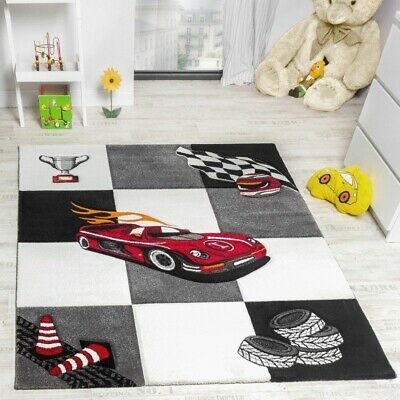 Kids Room Rug Racing Car Design Boys Room Carpet Children Playroom Quality Mat