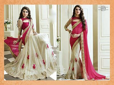 Designer Indian Women Party Wear Bollywood Sari Pakistani Festival Wedding Saree