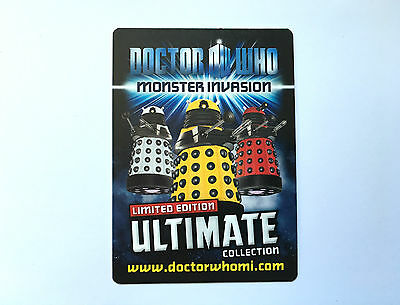 Doctor Who Monster Invasion Ultimate Limited Edition Rare Cards- Choose