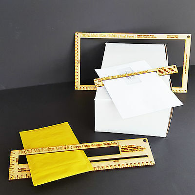 Royal Mail PPI Triple Pack Wooden Letter Size Guide Post Office Postage Ruler