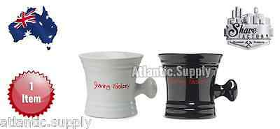 Shaving Factory Stylish Porcelain Shaving Mug Black/white - Aus Seller
