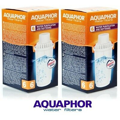 B100-6 AQUAPHOR 2 Replacement Cartridges For Hard Water Areas,Filter Jug Pitcher