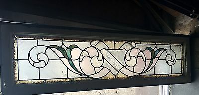 Great Old Buffalo Floral Transom Window