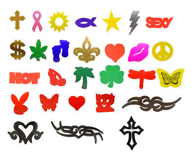Tanning Bed Stickers 100- 1000 Per Roll - New Styles Added