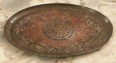 OLD TRAY patinated bronze RED AND BLACK TONES PERFECT STATE GERMAN MARK