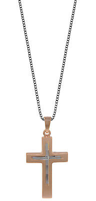 TRENDOR jewellery Silver chain with crucifix pendant for men 79183