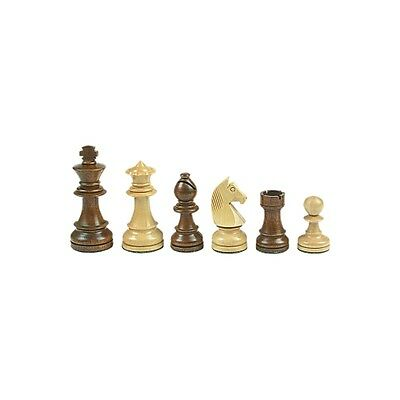 Chess figures - Staunton - brown - Kings height 70 mm - weighted
