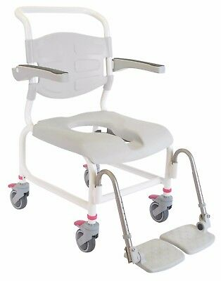 Etac Clean Height Adjustable Mobile Shower Commode Chair Bath Toilet Shower