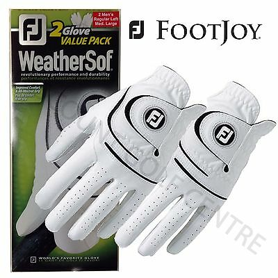 Footjoy Men's Weathersof Golf Gloves Twin Pack 2 Gloves