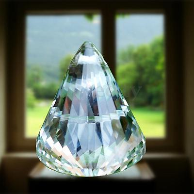 1PC Clear Crystal Diamond Glass Hanging Drop Lamp Prisms Part Pendant Decor
