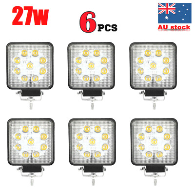 6x 27W CREE LED WORK LIGHT DRIVING FLOOD LIGHT BAR 12V 24V LAMP-*Thickness 55mm*